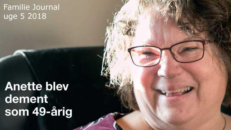 Anette blev dement som 49 årig